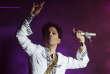 Prince en concert au Coachella Festival à Indio (Californie) en avril 2008.