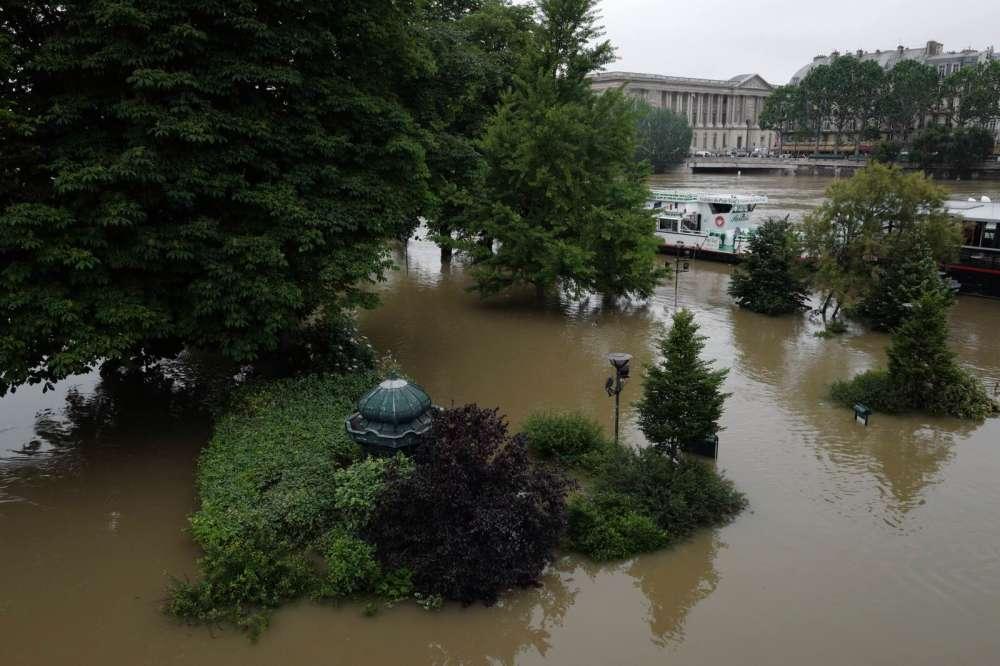 La Seine en crue, le 3 juin à Paris.