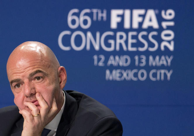 Le président de la FIFA Gianni Infantino, le 13 mai 2016.