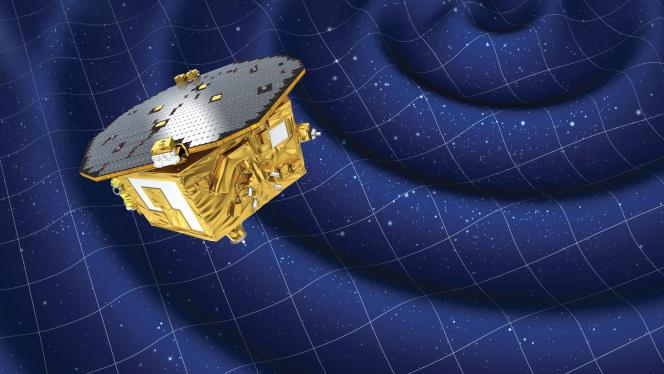 Vue d'artiste du satellite laboratoire Lisa Pathfinder.