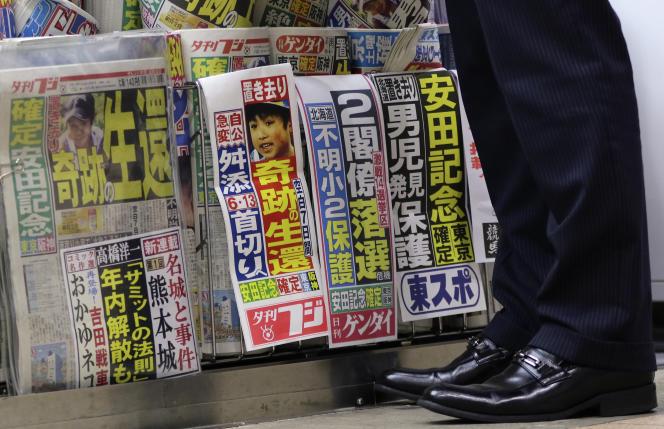 Faire la couverture des journaux pour avoir puni son fils.