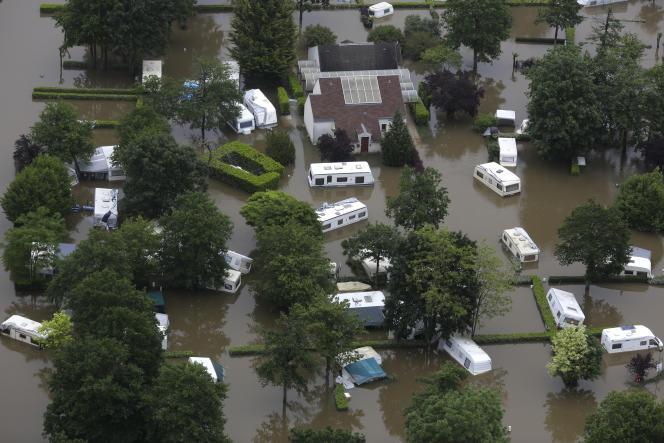Nemours (Seine-et-Marne), frappée par les inondations le 3 juin.