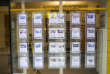 A picture taken on March 18, 2013, in Paris, in the window of a real estate agency where are displayed real estate classifieds for sales of apartments. AFP PHOTO / FRED DUFOUR / AFP PHOTO / FRED DUFOUR