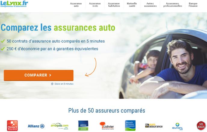 «Une étude du cabinet Xerfi souligne que les comparateurs ont aussi des efforts à faire pour capter les consommateurs» (Photo: capture d'écran de la page d'accueil du site Lelynx.fr).