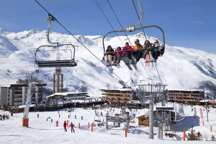 La station des Menuires (Savoie), exploitée par la Compagnie des Alpes.