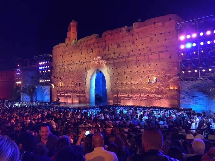 Gala de clôture du Marrakech du rire, samedi 4 juin, sur la scène du palais El Badiî.