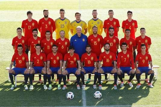 La sélection espagnole au grand complet, le 5 juin à Las Rozas.