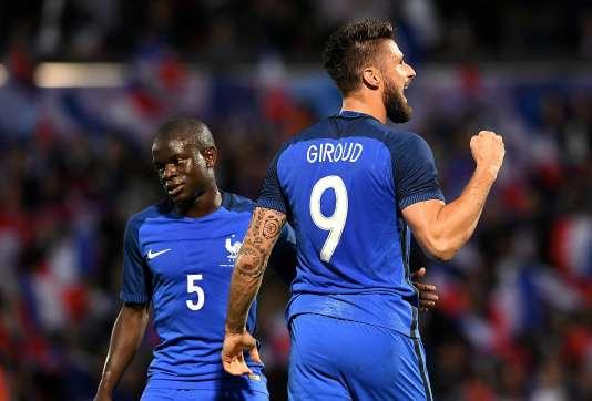 N'Golo Kante et Olivier Giroud.