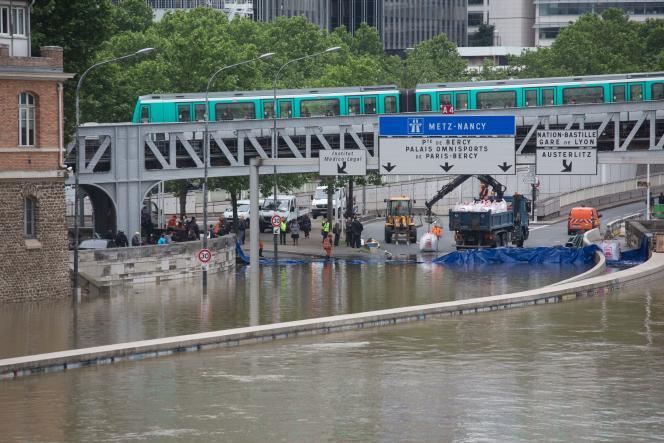 La Seine en crue à Paris, en juin 2016.