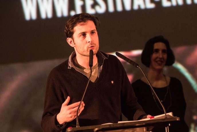 Le cinéaste Arthur Harari, lauréat du Grand Prix du court-métrage pour «Peine perdue», lors du Festival international du film de Belfort, Entrevues, en 2013.