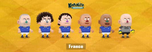 L'équipe de France dans Kopanito World Cup Soccer.