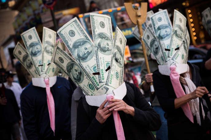 Des manifestants d'Occupy Wall Street, le 17 septembre 2013 à New York City.