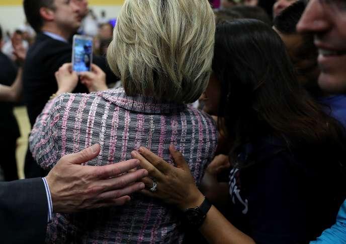 Hillary Clinton lors d'un meeting à Sacramento le 5 juin, en Californie.