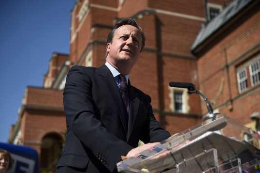 David Cameron lors d'un meeting en faveur du maintien du Royaume-Uni au sein de l'UE, le 6 juin 2016.
