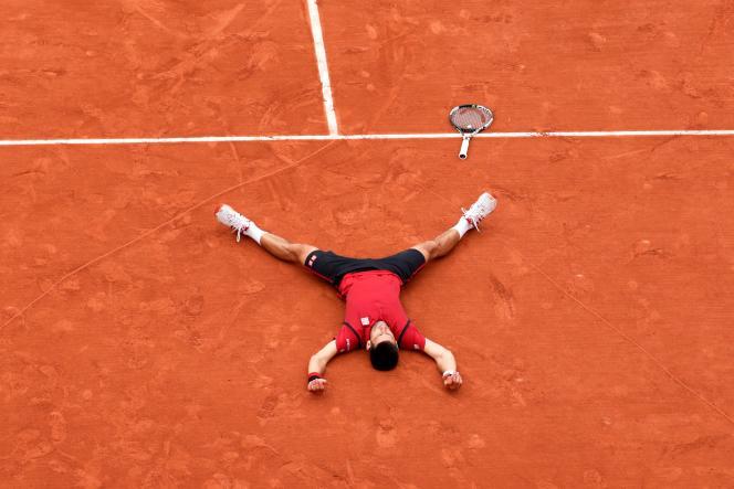 Novak Djokovic vainqueur de Roland-Garros le 5 juin.