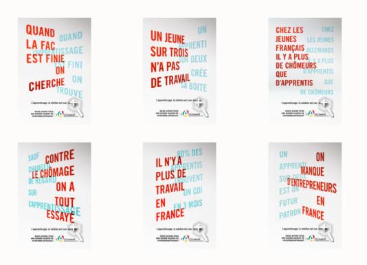 Campagne d'affichage duFonds national de promotion et de communication de l'artisanat.