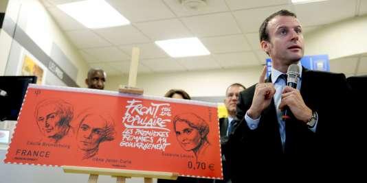 Emmanuel Macron a dévoilé un timbre célébrant le 80e anniversaire du Front populaire.