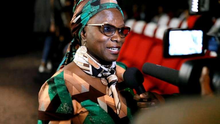 La chanteuse Angelique Kidjo lors de l'ouverture de la quatrième édition du festival Nollywood Week Film à Paris, début juin 2016.