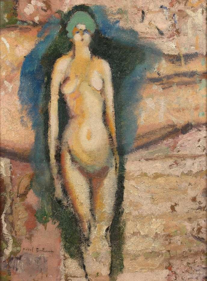 « Nu sur nu» (1910-1911), deMarcel Duchamp, huile sur panneau (65 x 51 cm).