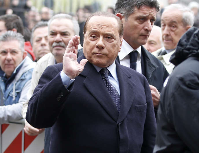 Silvio Berlusconi, le 5 avril 2016, à Milan.