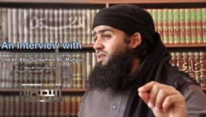 L'Australien Abou Soulayman Al-Mouhajir sur une vidéo mise en ligne en 2014 par le Front Al-Nosra.