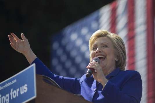 Hillary Clinton lors d'un meeting à Los Angeles, en Californie, le 6 juin.