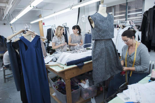 La styliste Rebecca Taylor dans son studio de Manhattan, en 2014.