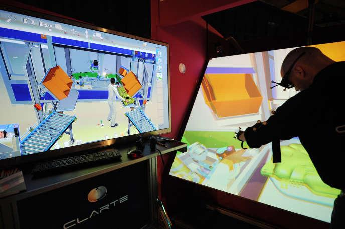 Démonstration en 3D lors de la 15e édition du salon Laval Virtual, en 2013.