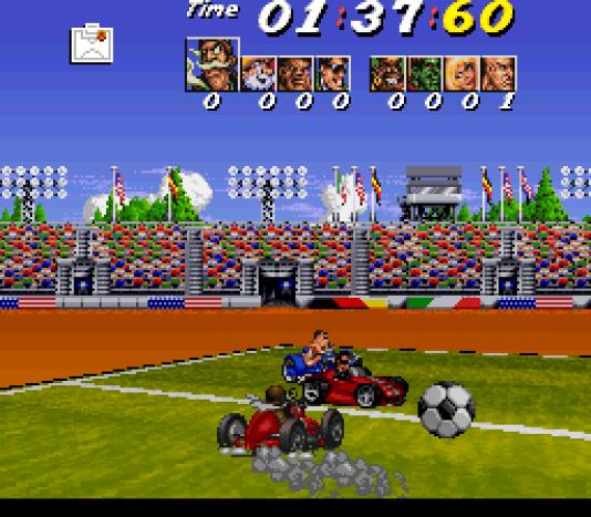 Le mode football de Street Racer, en 1994.