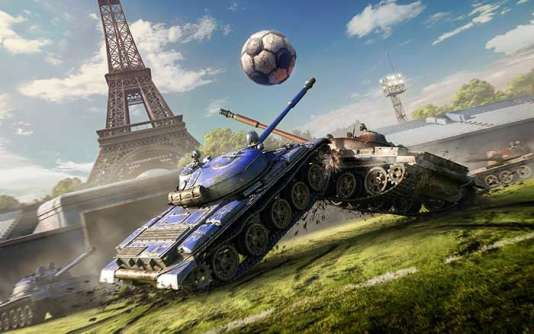 Illustration de Tank Football 2016, un mode de World of Tanks.
