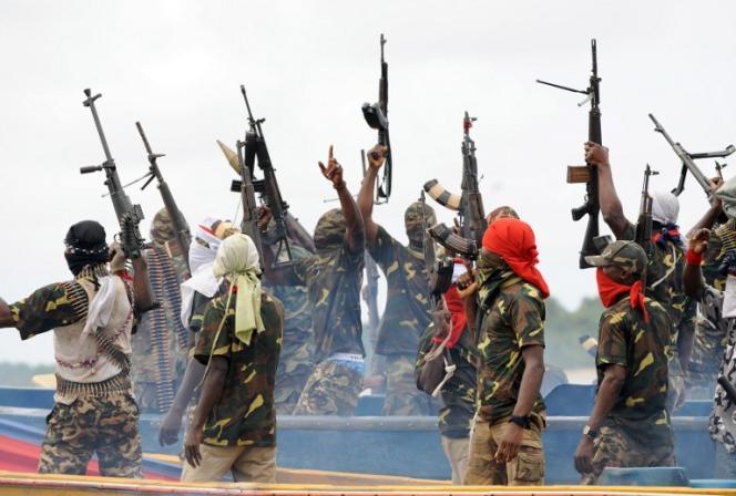 Les Delta Niger Avengers s'inspirent descombattants du Movement forEmancipation of the Niger Delta (MEND),ici en septembre 2008.