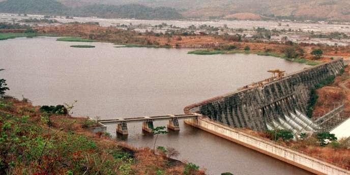 L'un de deuxbarrages hydroélectriques d'Inga sur le fleuve Congo.