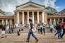 La première action de contestation des étudiants de l'UTC fut de déboulonner, en mars 2015, la statue de Cecil Rhodes, homme d'affaires britannique et premier ministre de la colonie du Cap à la fin du XIXe siècle, qui trônait à l'entrée de l'université depuis 1962.
