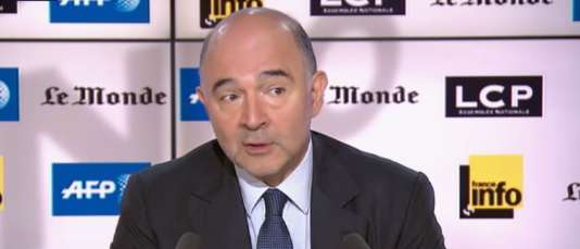 Pierre Moscovici, invité de l'émission «Questions d'info» sur LCP en partenariat avec «Le Monde», France Info et l'AFP.