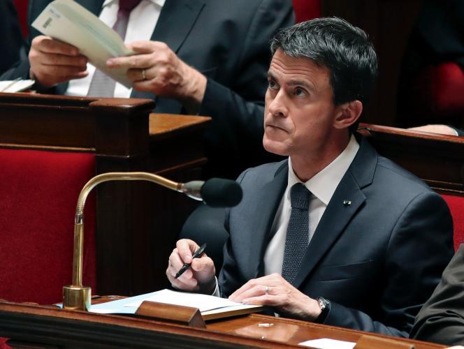 Manuel Valls à l'Assemblée le 8 juin.