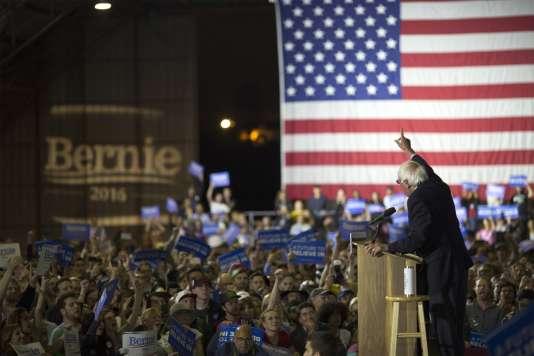 Lors du meeting de campagne de Bernie Sanders, à Santa Monica, le7juin.