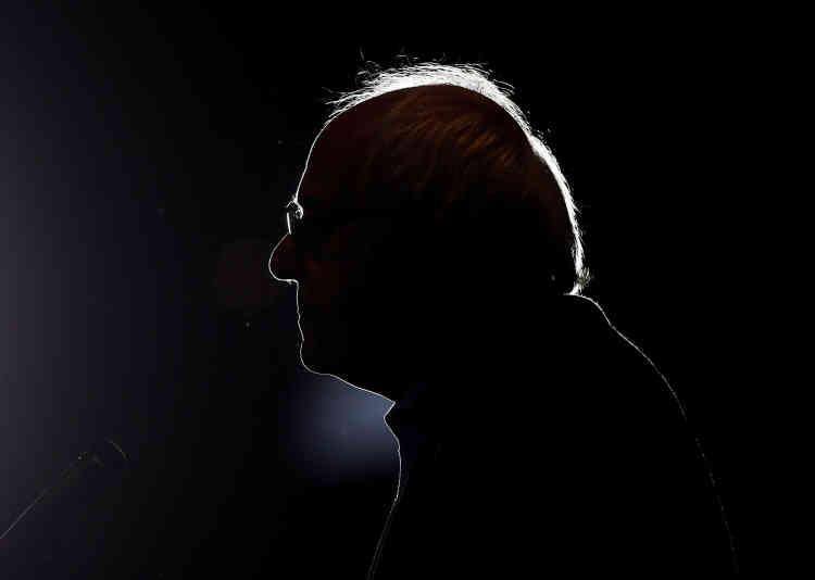 Le candidat à l'investituredémocrate Bernie Sanders lors d'un rassemblement à Anaheim, en Californie, le 24mai.