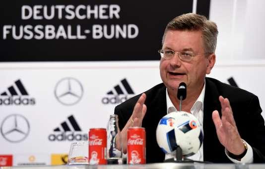 Reinhard Grindel, président de la Fédération allemande de football, le 8 juin à Evian-les-Bains.