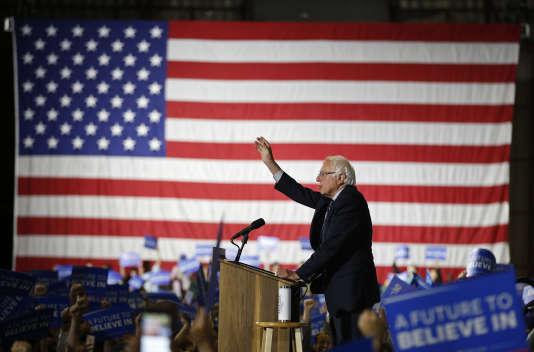 Le candidat démocrate Bernie Sanders à Santa Monica.