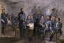 Gravure représentant les généraux nordistes en1863, durant la guerre de Sécession.