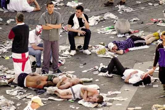 ABruxelles, lors de l'Euro 2000, au lendemain des débordements.