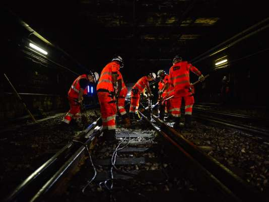 Les travaux dans le RER C, jeudi 9 juin.