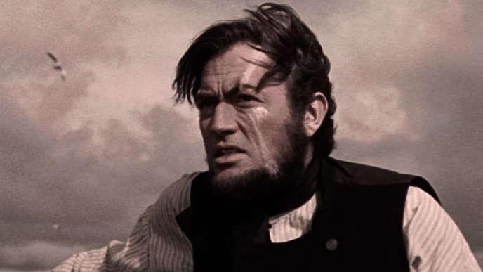 Gregory Peck dans « Moby Dick», de John Huston (1956). Le film a été violemment critiqué par Eric Rohmer dans les « Cahiers du cinéma» en janvier 1957.