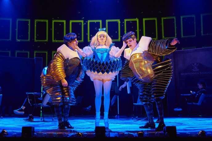 La comédie musicale « Wonder.land» lors d'une représentation au Musical Royal National Theatre, de Londres.