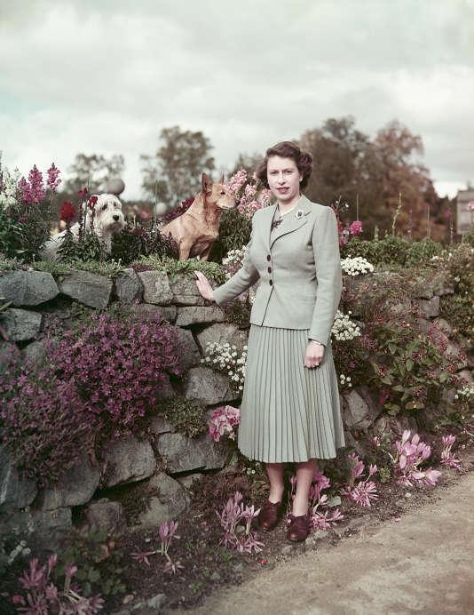 Au château de Balmoral (Ecosse), le 28 septembre 1952.