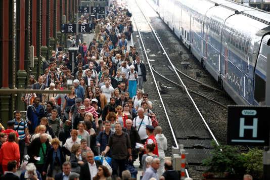 Gare de Lyon à Paris, le 7 juin pendant une journée de grève de la SNCF.