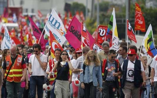 Un manifestation contre la loi travail, à Nantes, le 9 juin 2016.