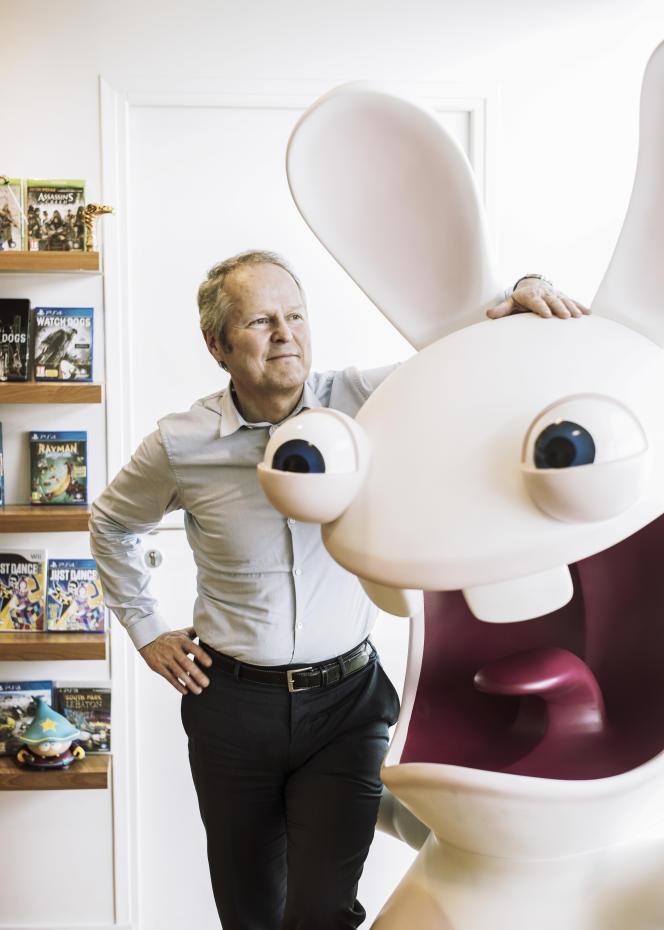 Yves Guillemot, PDG et cofondateur d'Ubisoft, dans les locaux de l'entreprise, à Montreuil, le 8 juin.