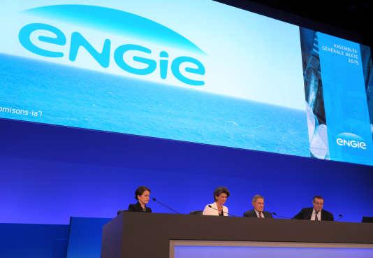 La direction d'Engie, le 28 avril 2015 à Paris.
