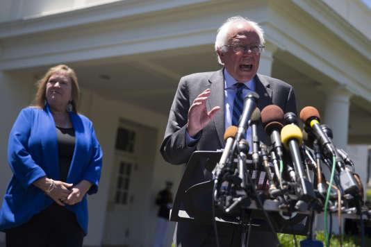 Bernie Sanders, le 9 juin à la Maison Blanche.